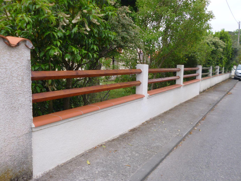 Reprise d'un mur de clôture à Tournefeuille
